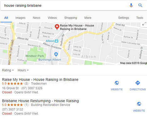 google my business maps agency